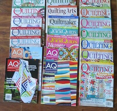Lot of 21 Quilting Magazines American Quilter McCalls Quilting + Free Shipping