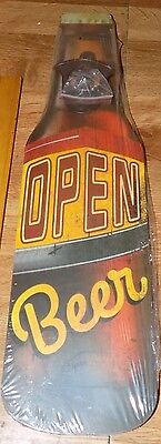 Bottle Opener  With A Open Beer  Sign On It  16 Inches High
