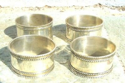 Exquisite Set Of Four Vintage Silver Plated Napkin Rings Holders From Greece