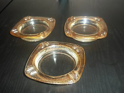 Vintage Carnival Glass Ashtray lot of 3