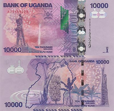 Uganda 10000 Shillings (2013) - Tribal Carving/Banana Trees/p52c UNC