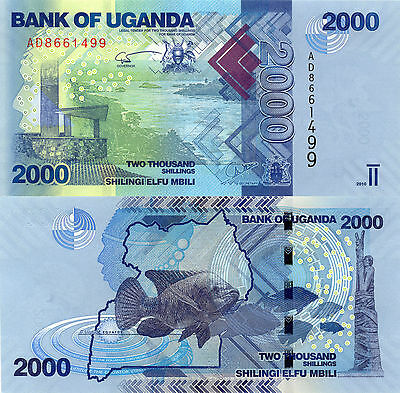 Uganda 2000 Shillings (2010) - River Valley/Fish/p50a UNC