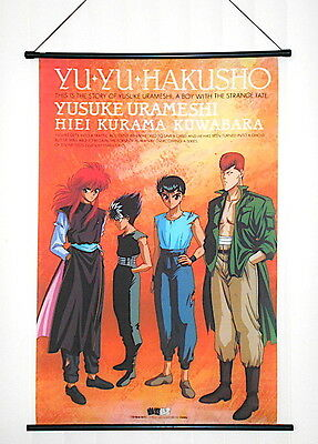 A Vintage Yu Yu Hakusho Anime Character Yusuke Urameshi Fabric Wall Hang Scroll