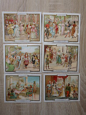 (AB) 6x GRANDS CHROMOS AU BON MARCHE Litho Minot LE COSTUME A TRAVERS SIECLES