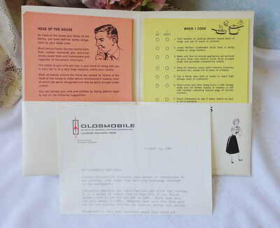 Vintage 1965 Oldsmobile Dealer Home Safety Packet Extremely RARE Collectors