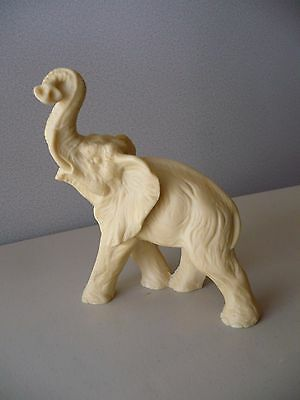"""Vintage 6.5"""" Lucky Wild Elephant Italian Statue Made in Italy"""