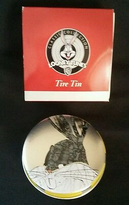 Warner Bros 1999 Resin Tire Tin Bugs Bunny Never Used In Box Looney Tunes