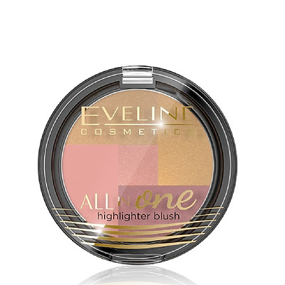 Eveline Highlighter Blush 03 All in One Mosaic Blush 6.5g