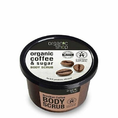 Organic Shop Body Scrub Brazilian Coffee and Sugar Paraben FREE
