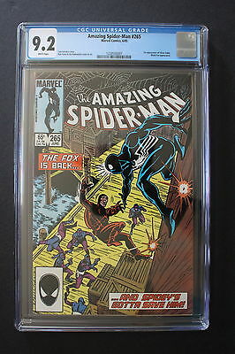 AMAZING SPIDER-MAN #265 1st SILVER SABLE 1985 1st Print B.Cat MOVIE CGC NM- 9.2