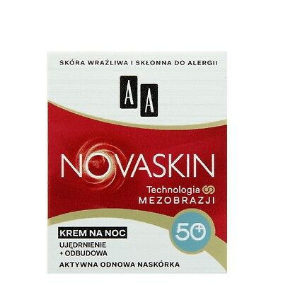 AA Novaskin Firming and Rebulding Face Cream for Night 50+