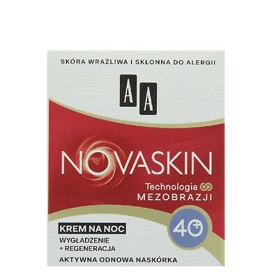 AA Novaskin Smoothing and Regenerating Face Cream for Night 40+