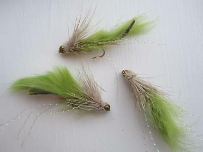 SIZES AVAILABLE STREAMERS 3 EA IF19-6 BEAD HEAD MUDDLER MINNOW OLIVE
