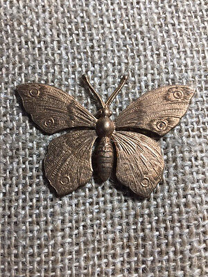 """1 vintage French Art Nouveau Butterfly, finding Brass Stamping 1-3/8"""""""