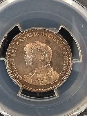 1898 Portugal 200 Reis Discovery Of India Pcgs Ms65