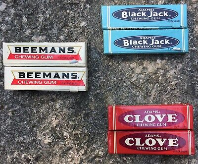 Vintage NOS ADAM's Black Jack, Clove And Beemans Chewing Gum For Gum Machine
