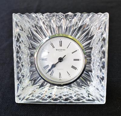 Large Waterford Crystal Ireland Quartz Desk / Mantel/ Shelf Clock