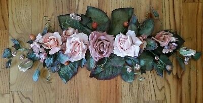 """Home Interior """"Rose"""" Floral Wall Swag - approx 31"""""""