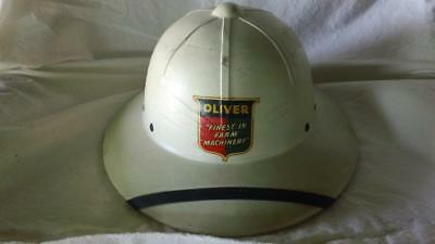 "Vintage OLIVER ""Finest Farm Machinery"" Pith Helmet - FREE SHIPPING"