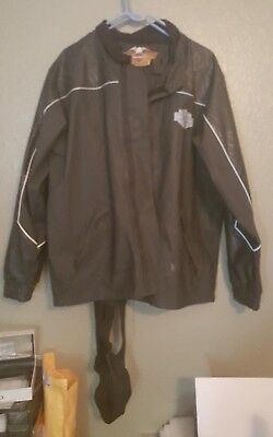 Harley Davidson Biker Rain Suit Jacket & overall  Pants Reflective Safety Small