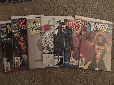 X-Men Lot of 8 Marvel Comics Bagged and Boarded ALL NM