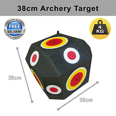 Archery Block Polyhedral Target 3D 38Cm High Density Xpe Self Healing Foam 38Or