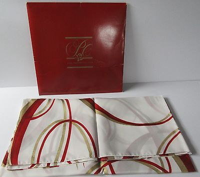 "Avon 1985 Presidents Club Scarf Reds & Gold Square 29 3/4"" - Unused - Italy"