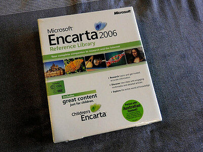 "Microsoft Encarta 2006 Reference Library ""FACTORY SEALED"" 5 CD Plus 1 DVD"