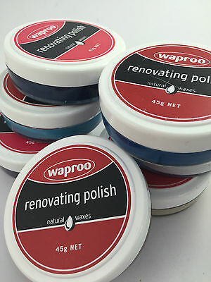 WAPROO RENOVATING  SHOE POLISH 45G  - All Colours Available.