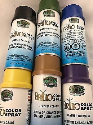 Brillo Colour Spray: Renew or Change Colour of leather, plastic & vinyl 127 gram