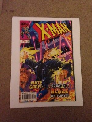 X-Man #42 Nate Grey Caught In A Blaze Of Fury