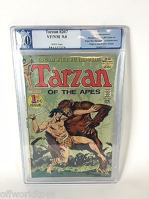 TARZAN OF THE APES #207 (4/72) CGC VF+ PGX 9.0 1st DC issue