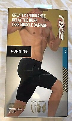 2XU MCS Run Compression Short Mens Size M Black Nero Brand New RRP $120