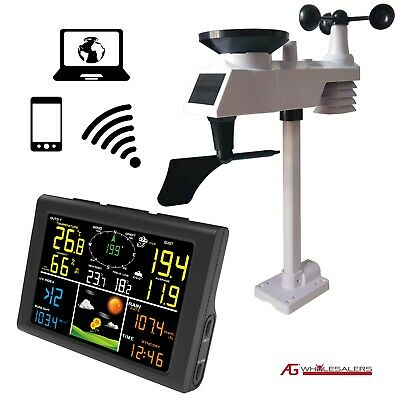 Solar Powered Wireless WiFi Weather Station - Professional Model