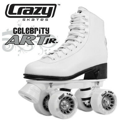 Crazy Celebrity Art White Roller Skates ******  $69 Special *********