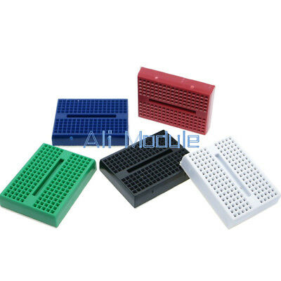 5PCS colourful Solderless Prototype Breadboard 170 Tie-points for Arduino AM
