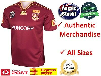 Queensland Maroons State Of Origin 2017 CCC On Field Jersey - BRAND NEW
