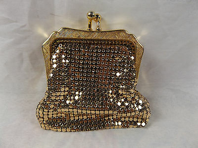 Vintage Ca 1960s Petite Glomesh Gold Mesh Ladies Coin Purse