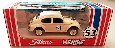 Dickie HERBIE Love Bug 53 VW Diecast 1:64 Volkswagen Car in Repro TEKNO BOX