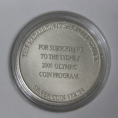 Sydney 2000 Olympic Games Subscribers Medallion Silver Coin Series (Mg143E)