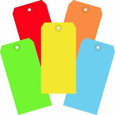 """Aviditi G20001 Assorted Color 13 Point Shipping Tags, 4 3/4"""" x 2 3/8"""" Pack of"""