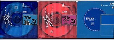 Two (x2) AXIA 74 minute J'z MiniDiscs with cases              Free AusPost
