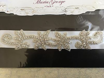 Maria George bling bridal gown belt