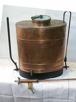 Original Antique Copper Vineyard Sprayer knapsack