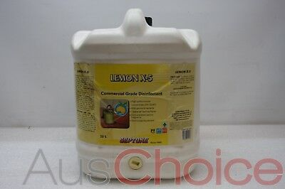 Septone Lemon X-5 HDLX20 20L Litre Commercial Floor Cleaner & Disinfectant