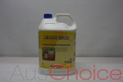 3 x Septone Lemon Grass HDLG5 5L Litre Commercial Floor Cleaner & Disinfectant