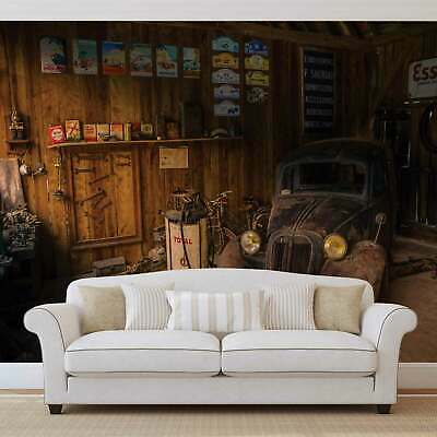 WALL MURAL PHOTO WALLPAPER XXL Garage Rusty Old Car Vintage (10518WS)