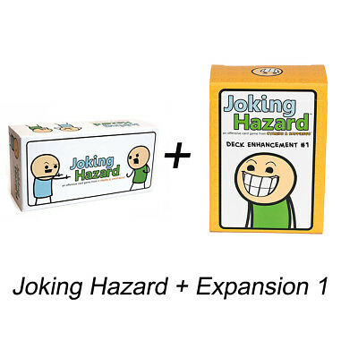 Joking Hazard Game Card Kickstarter Cyanide And Happiness Box + Expansion 1