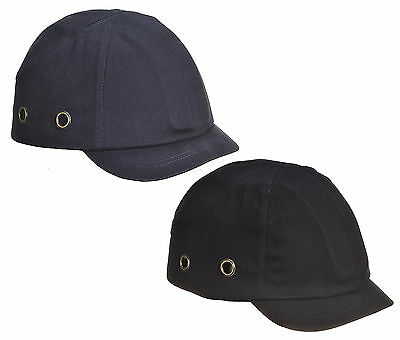 Spire Protective Short Peak Safety Baseball Bump Cap Hard Hat Navy or Black