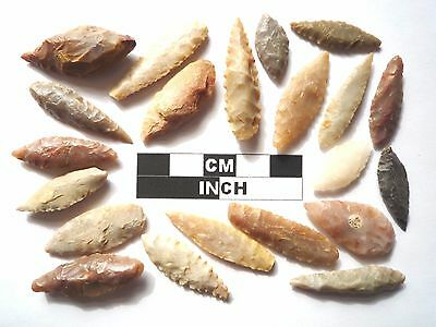 20 x Leaf Style Neolithic Arrowheads - 4000BC - (980)